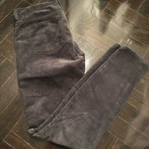 J Crew size 24 charcoal corduroy pants